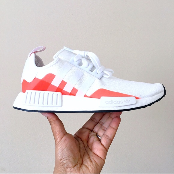 Adidas Shoes Nmd R1 White Orange Poshmark
